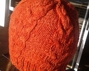 Organic cotton/ bamboo cable beanie