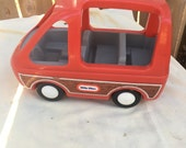 Reserved for Kimberly G-Vintage  Little Tikes Red Woody Van SUV Car Vehicle Family 1980s Made in USA