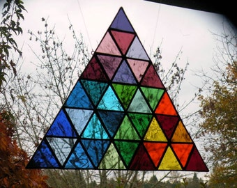 Jen's Custom Rainbow Stained Glass Triangle