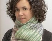 Bright Handspun Handknit Scarf, Neck warmer, Winter Accessory, Merino, Cashmere, Angora, Multicolor