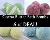 6pc bath bomb deal, Cocoa butter bath fizzy, choose 2 favorite fragrances, save on price AND shipping