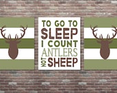 Hunting Nursery Decor,Boys Hunting Decor,INSTANT DOWNLOAD, Hunting Decor,Set,Deer Decor, To go to sleep I count antlers not sheep