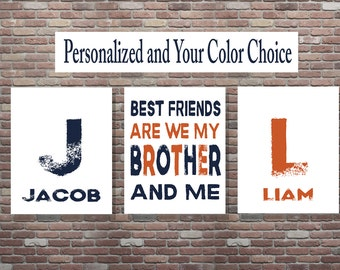 Best Friends Are We My Brother And Me, Brothers Sign, Brothers Wall Art, Best Friends Sign, DOWNLOAD ART,Brother Signs SET,Playroom