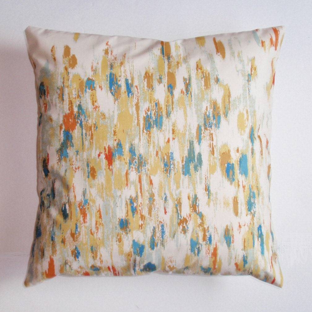 Fabric For Throw Pillow Covers : Throw Pillow Cover Vintage Multi-color Fabric Pillow Cover