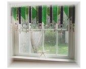 Merry Mardi Gras Stained Glass Window Treatment Valance Curtain