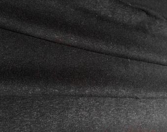 Black 7oz Hemp and Organic Cotton Jersey By the Yard