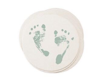 Little Baby Feet Letterpressed Paper Coasters
