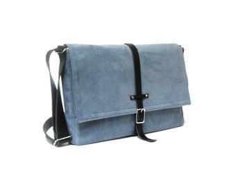 """13"""" / 15"""" MacBook Pro Retina messenger bag - smoky blue"""