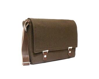 "13"" / 15"" / 17"" MacBook Pro messenger bag - chocolate brown"