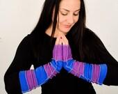 Twilight Blue & Purple Fleece Arm Warmers
