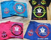 Custom cruise t-shirts. You choose colors. Adult sizes XS to 5XL