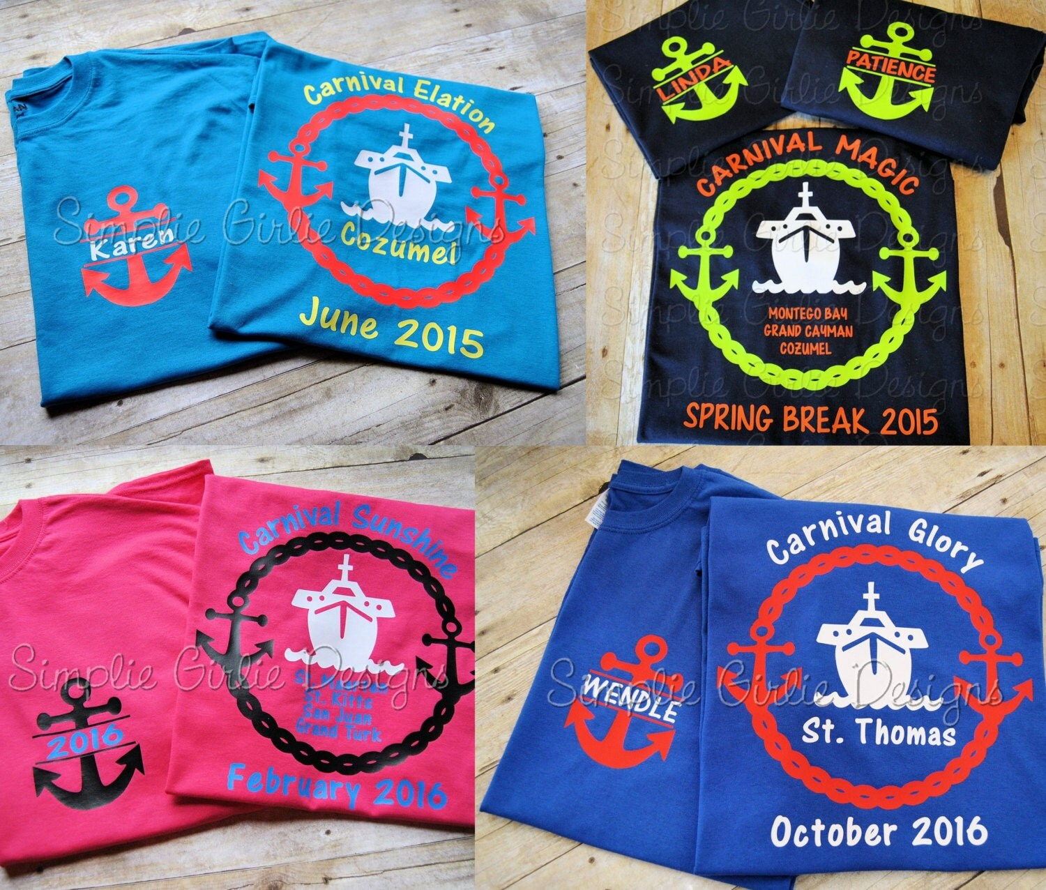 Design your own t-shirt calgary - Custom Cruise T Shirts You Choose Colors Toddler Youth And Adult Sizes