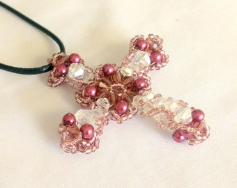 Beaded Crystals Cross Jewelry Making Tutorial TB3