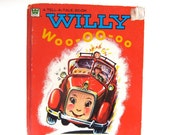 Willy Woo-oo-oo, Vintage Kids Book, Classic, Tell a Tales Book, Fire Engine, Fire Truck, Read Aloud Book, Picture Book,