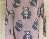 Vintage 80s novelty panda sweater