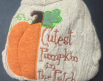 MamaBear BabyWear One Size Wool Diaper Cover Wrap - Cutest Pumpkin in the Patch