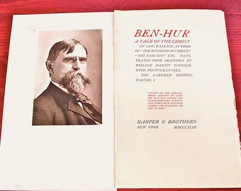 Ben-Hur. A Tale of the Christ Garfield Edition v. 1, 1893 Novel or Signatures (16 pages) Beautifully Illustrated. Loose Cover and Pages