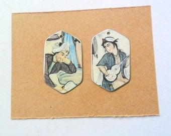Reclaimed Upcycled Tin Earring Findings Pair
