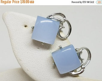 50% OFF Thermoset Lucite Moonglow Vintage Earrings Clip On