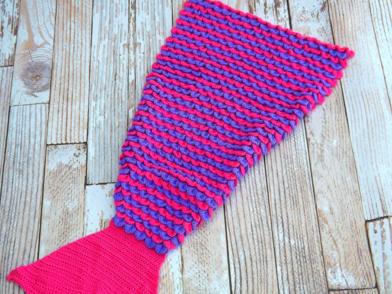 Easy Crochet Pattern For Mermaid Blanket : Mermaid Tail Kit Mermaid Tail Blanket Kit by ...