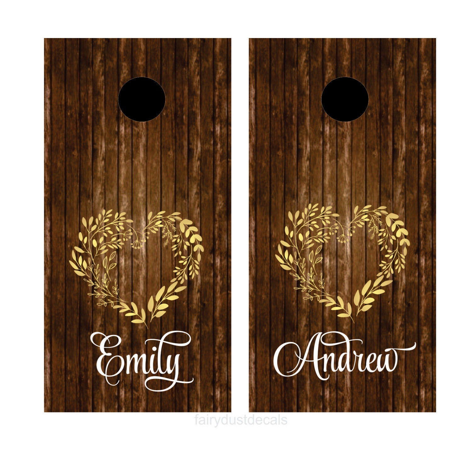 Wedding Decals Cornhole Board Set Yard Game Sticker Set
