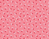 SUMMER SALE - 5 Yards - Calico Days - C6035 - Cherry in Pink - Lori Holt - Riley Blake Designs