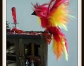 dollhouse miniature artisan  Witch Magical Phoenix Hutch fairy halloween spell Custom orders Welcome