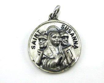 Vintage Creed Saint Susanna Sterling Silver Charm