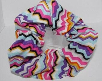 Bright Chevron Scrunchie
