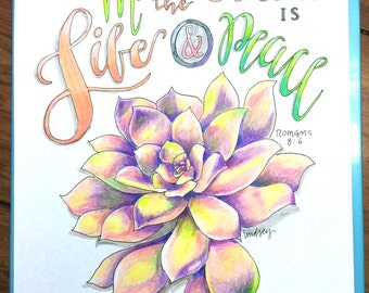 Succulents Cafe An Adult Coloring Book