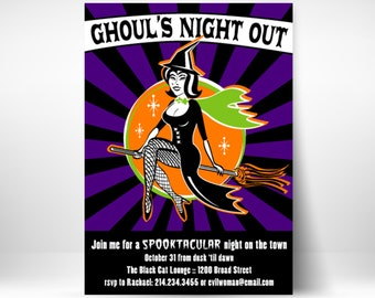 PRINTABLE Ghoul's Night Out Halloween Party Invitation or Evite
