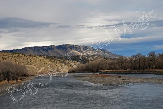 "Sheep Mountain on the Yellowstone (8"" X 10"")  #N7726A e"