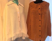 2 Vintage Capes Gold and Cream