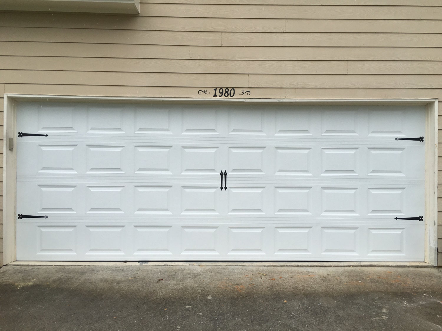 garage door decal handles and hinges