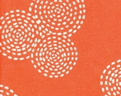 25% off Michael Miller Stitch Circle Orange  - Fabric 1 yard off of bolt (more available)