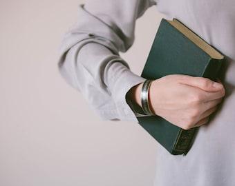 Northanger Abbey Brass Cuff Bracelet - Jane Austen Jewelry - Book Quote Gift Ideas - Pleasure In A Good Novel