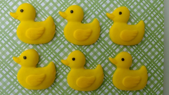 Fondant Duckies-Fondant Ducks-Edible Duck Toppers-Duck Cupcake