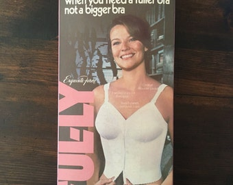 Vintage 60's Exquisite Form Ful-ly front hook  longline Bra  New in box.