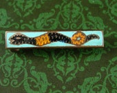 Cleopatra Snake Pin Brooch petite lapel cravat holder Vintage enamel art deco Serpent Mens womens accessory Antique estate jewelry