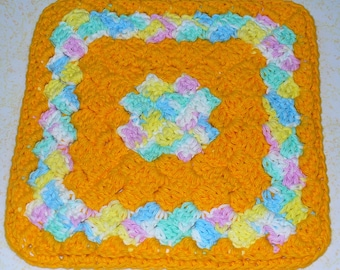 Rings of Sunshine Dish Cloth