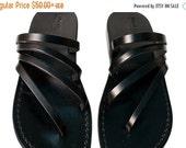 20% OFF Black Rainbow Leather Sandals for Men & Women