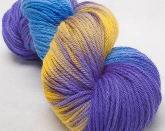 Hand dyed Bluefaced Leicester BFL Hand painted DK yarn 100g skein Bejewelled