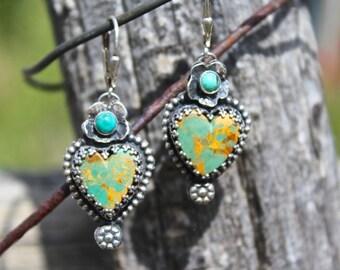 Royston Turquoise Milargro Heart Earrings
