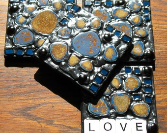 Love Mosaic Coasters (Set of 4)