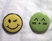 Pinback Button Lot #2 Craft Jewelry Supplies Findings 2pcs