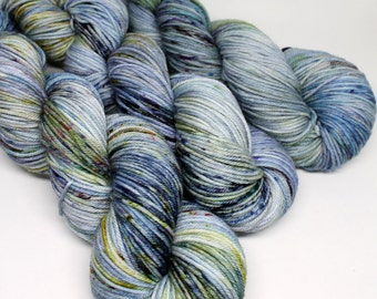 Squish DK - 250 yards - Hand Dyed Superwash Merino Yarn - Dirty Denim