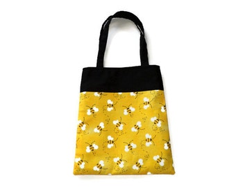 Fabric Bee Gift/Goodie Bag - Bumble Bee - Lot of 10