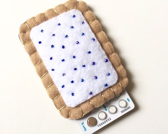 The Original Toaster Pastry Pill Case Birth Control Cozy - blueberry