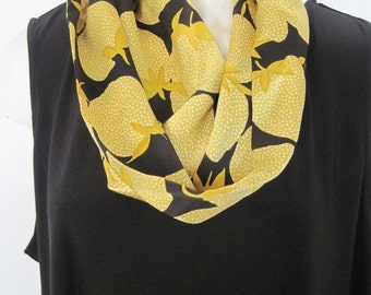 Infinity Scarf - Yellow & Black