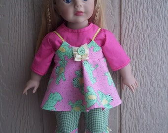 "Leap Froggin' Around capris set for any 18"" doll"